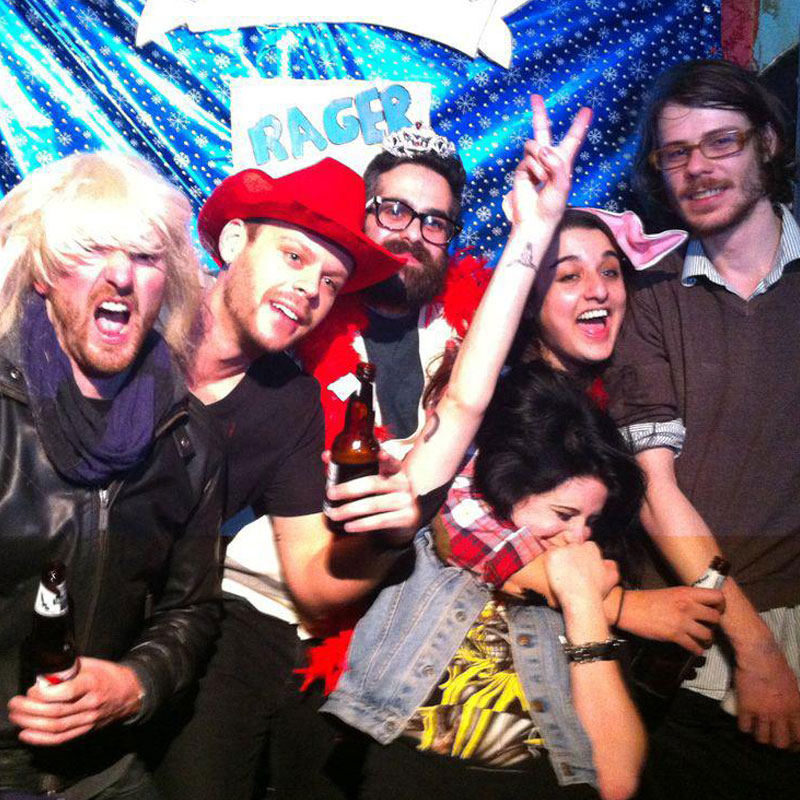Photo from AB's 4th birthday party!  Pictured left to right: Tim Des Islets, Jordan Howard, Giuseppe Spartico, Sari Delmar, Jeremy von Hollen, and Jacquie Neville in the front!